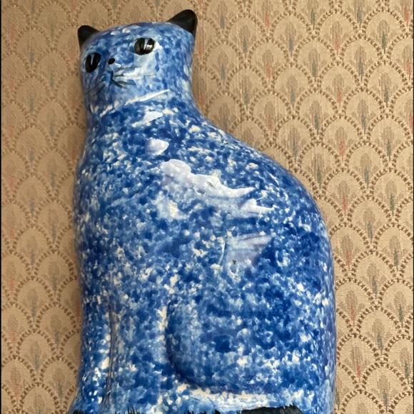 Cute ceramic cat figurine